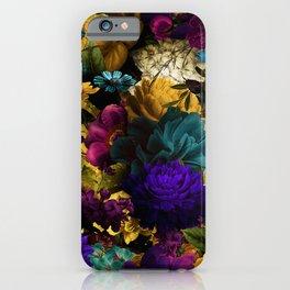 melancholy flowers big seamless pattern 01 iPhone Case