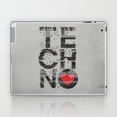 I love Techno Laptop & iPad Skin