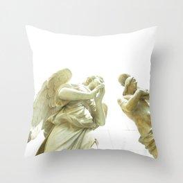 Imploring Angel photo Throw Pillow