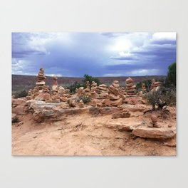 Rock Stacking Canvas Print
