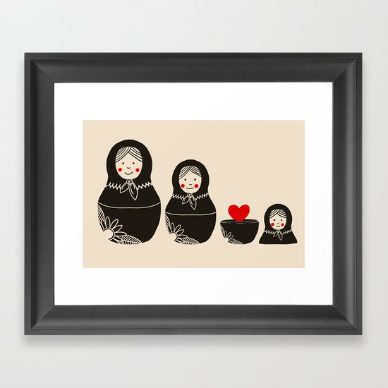 The Same Inside Framed Art Print