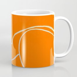 Lined - Orange Coffee Mug
