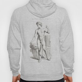 Human Anatomy Art Print MEN BODY FRONT Vintage Anatomy, doctor medical art, Antique Book Plate, Medi Hoody