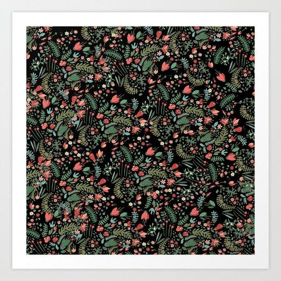 black garden Art Print