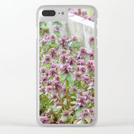 Purple Bloom Clear iPhone Case