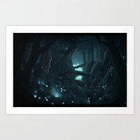 Evernight forest Art Print