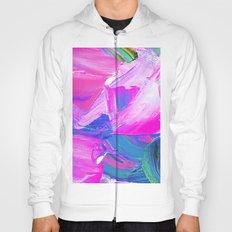 Modern Abstract Purple Blue Artist Paint Splatter Hoody