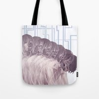 dmmd Tote Bags featuring Many by nevermindd