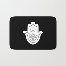 Jain Symbol For Non-Violence Bath Mat