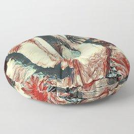WHITE SWAN BROWNS & GREY  MODERN ART DESIGN Floor Pillow