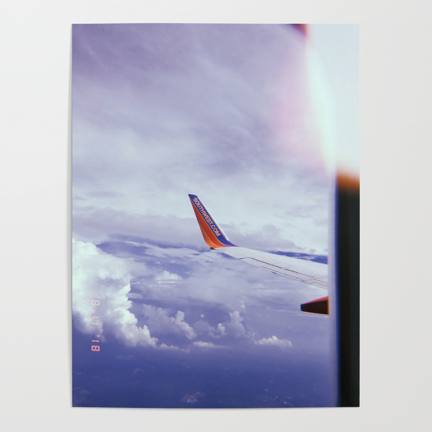 Airplane Window View Poster By Danicaandvictoria Society6