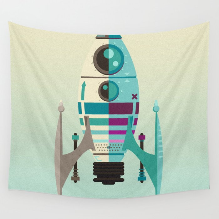 Rocket X Wall Tapestry