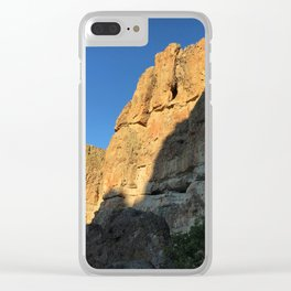 Clarno Cliffs Clear iPhone Case