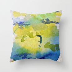 I dream in watercolor C Throw Pillow