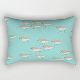 Scattering Sandpipers Rectangular Pillow