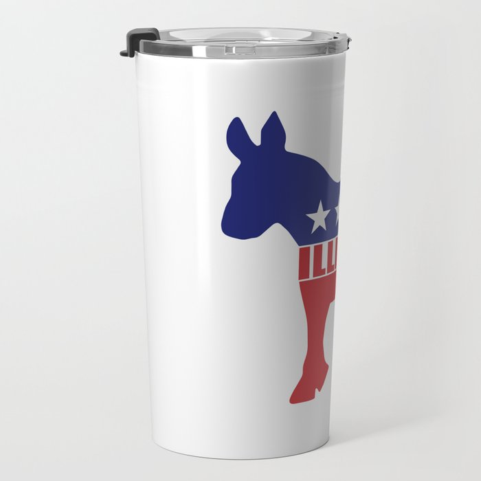 Illinois Democrat Donkey Travel Mug