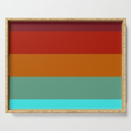 Yoshika - Multicolor Retro Stripes Serving Tray