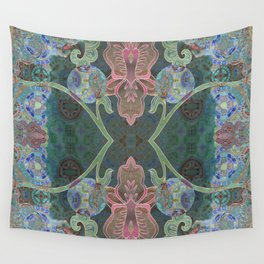 Elegant Detailed Orchid Meditation Pattern Wall Tapestry