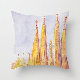 Sagrada Familia Barcelona Throw Pillow