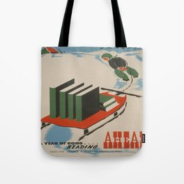 Vintage poster -  A Year of Good Reading Ahead Tote Bag