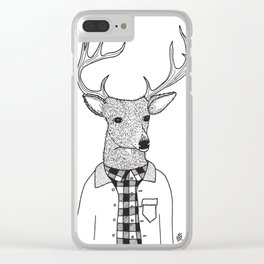 Oh Deer Dude Clear iPhone Case