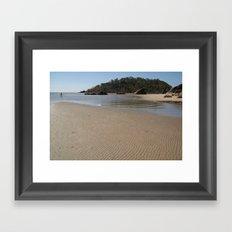 Walking Towards Monkey Island Palolem Framed Art Print