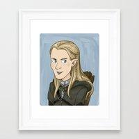 legolas Framed Art Prints featuring Legolas by quietsnooze