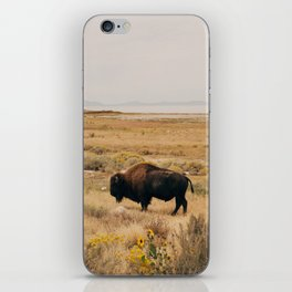 Bison Bull on Antelope Island iPhone Skin