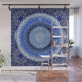 Cobalt Tapestry Mandala Wall Mural