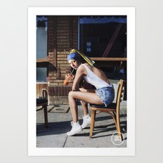 Girl with a Pearl Earring - Chill Out Mood Art Print