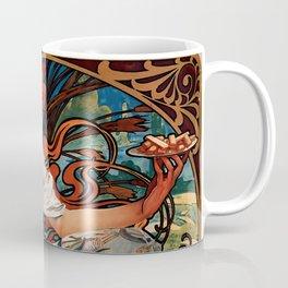 "Alphonse Mucha ""Biscuits Champagne-Lefèvre-Utile"" Coffee Mug"