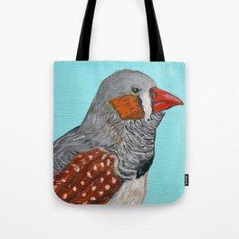Zebra Finch Portrait Tote Bag