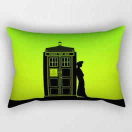 Tardis With The Tenth Doctor Rectangular Pillow
