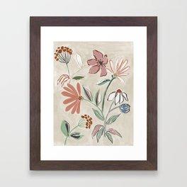 Monday Floral Framed Art Print