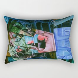 Still Life before an Open Window, Place Ravignan Rectangular Pillow