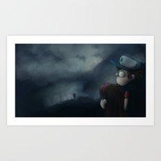 Gravity Falls Oregon Art Print