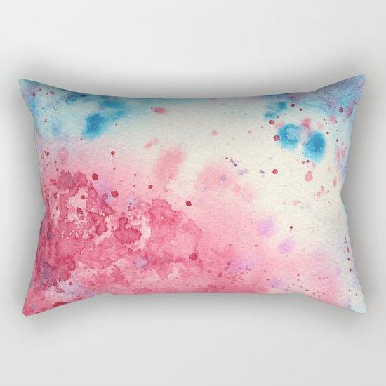 When pink meets blue || watercolor Rectangular Pillow