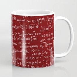 Math Equations // Maroon Coffee Mug