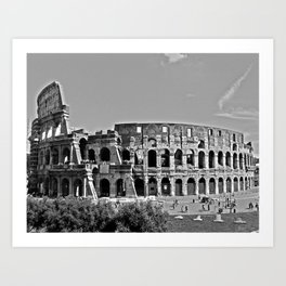 Roman Coloseum Full Frontal Art Print