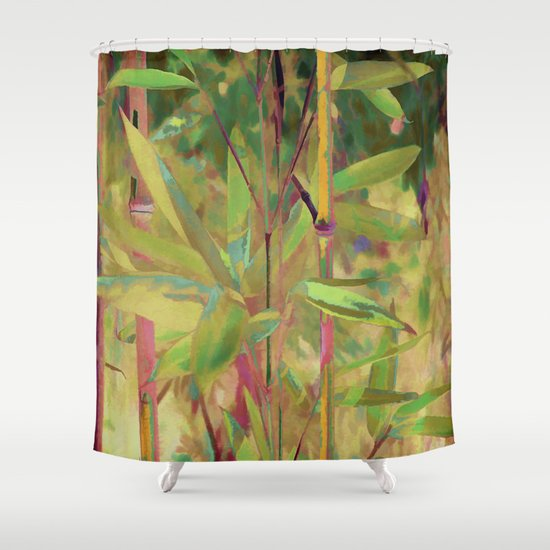 Painted Bamboo Shower Curtain