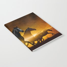 Wild Black Horses Notebook