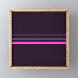 Alamak - Classic Retro Stripes Framed Mini Art Print