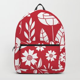 Blooming field - red Backpack
