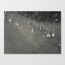 Dock From Above Canvas Print