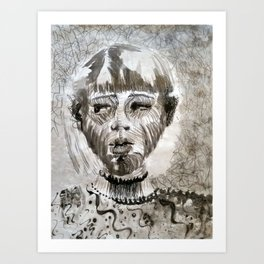 Josie Smith Self Portrait Art Print