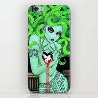 medusa iPhone & iPod Skins featuring Medusa by Leilani Joy