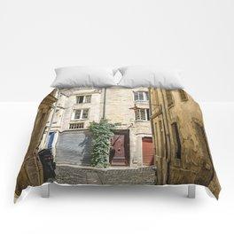 Narrow street in Bordeaux Comforters