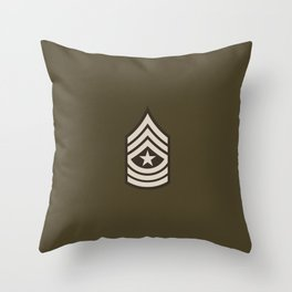 Sergeant Major (Brown) Throw Pillow