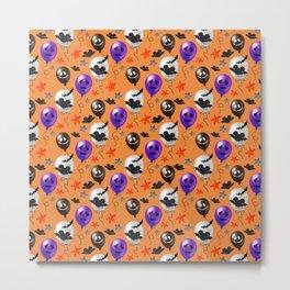 Halloween Mouse Ears Bats & Balloons Metal Print
