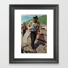 The Life and Death of the Fisherman's son. Framed Art Print